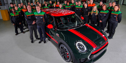 Mini celebrates three million cars at Oxford plant