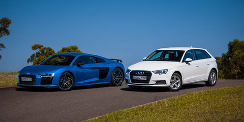 Audi R8 V10 Plus v Audi A3 1.0 TFSI comparison