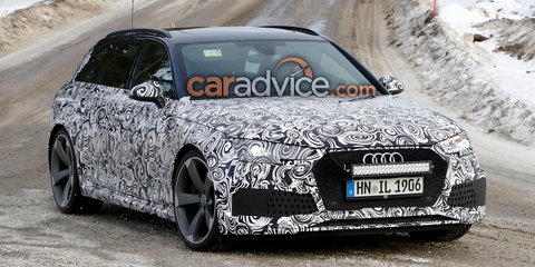 2018 Audi RS4 Avant spied with production body