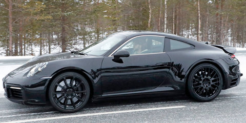 2018 Porsche 911 spied with production body