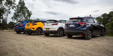 Small SUV comparison: Honda HR-V VTi-L v Mazda CX-3 Akari v Mitsubishi ASX XLS v Toyota C-HR Koba