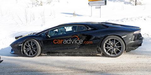 Lamborghini Aventador Performante spied