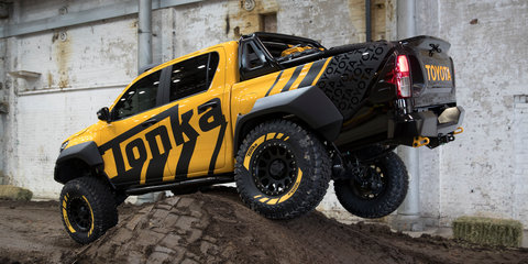 Playtime in the Toyota HiLux Tonka concept and 2017 Toyota HiLux TRD