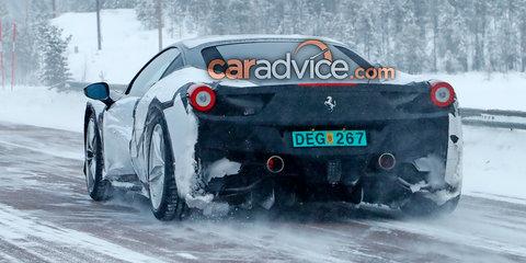 Ferrari 'Dino' mule spied