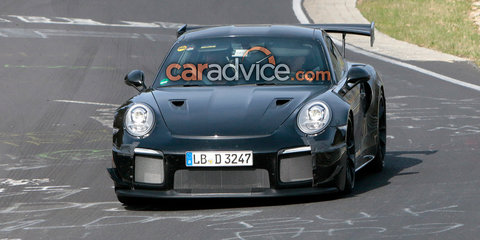 Porsche 911 GT2 spied at the Nurburgring
