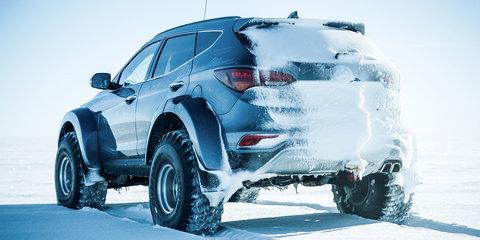 Modified Hyundai Santa Fe becomes first car to cross Antarctica
