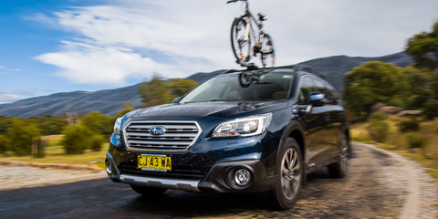 2017 Subaru Outback 2.5i Premium mountain bike adventure