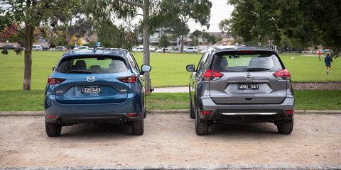 Nissan X-Trail ST v Mazda CX-5 Maxx comparison