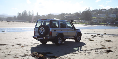 Surfin' Safari in the 2017 Toyota LandCruiser 70 Series GXL Wagon