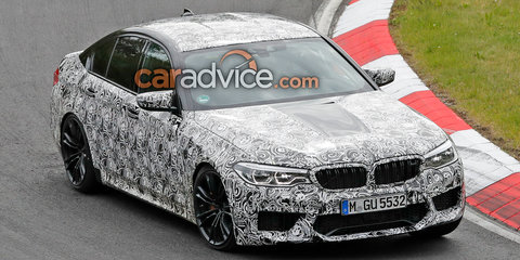 2018 BMW M5 spied with less camouflage on the Nurburgring - UPDATE