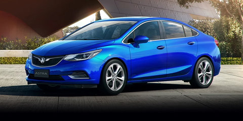 2017 Holden Astra sedan to launch with three model variants: LS, LT and LTZ