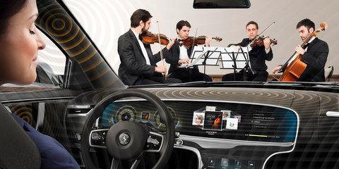 Continental 'unveils' speakerless sound system