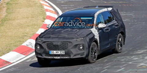 2018 Hyundai Santa Fe spied at the Nurburgring