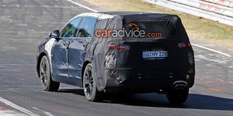 2018 Hyundai Santa Fe spied at the Nurburgring