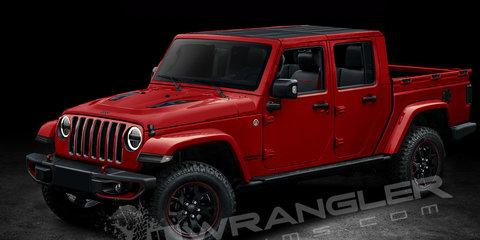 Jeep Wrangler Pickup ute rendered