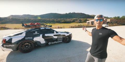 Jon Olsson smokes tyres in his 604kW Rolls-Royce Wraith - Video