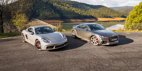Audi TT RS Coupe v Porsche 718 Cayman S comparison