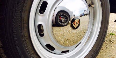2017 Porsche 718 Cayman S takes a ride with vintage Porsches