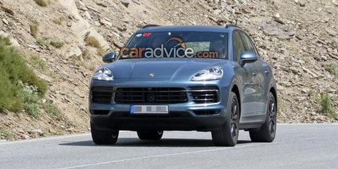 2018 Porsche Cayenne spied with almost no camouflage