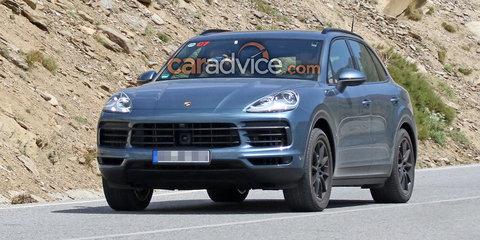 2018 Porsche Cayenne spied with almost no camouflage