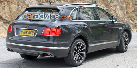 2018 Bentley Bentayga plug-in hybrid spied