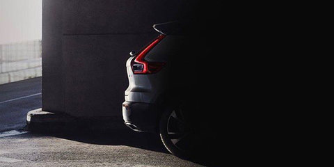 2018 Volvo XC40 rear shown briefly on official German site