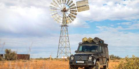 Across the Simpson Desert in a Mercedes-Benz G-Wagen