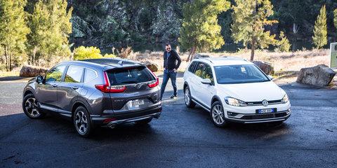 2017 Honda CR-V v Volkswagen Golf Alltrack comparison