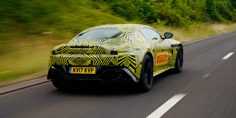 2018 Aston Martin Vantage front end and GTE teased