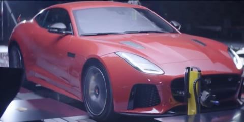 Jaguar F-Type SVR makes art with its exhaust