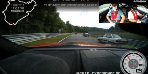 Jaguar F-Type SVR overtakes 43 cars in one lap of the Nurburgring - video