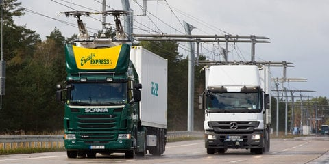 Siemens building 'eHighway' in Germany to charge electric trucks