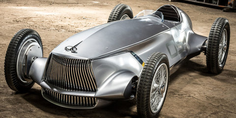Infiniti Prototype 9 revealed with parts from new Nissan Leaf