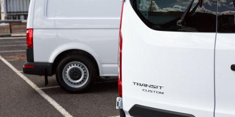 2017 Ford Transit Custom 290S auto v Volkswagen Transporter TDI340 auto comparison