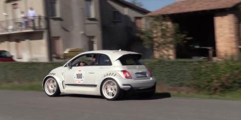 Monster bambino: Fiat 500 gets Alfa 4C engine, widebody makeover