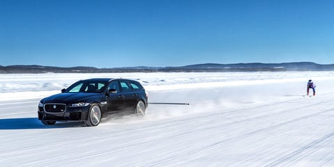 Jaguar XF Sportbrake breaks 'fastest towed speed on skis' record