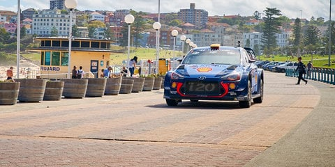 Driving a WRC race car through Sydney
