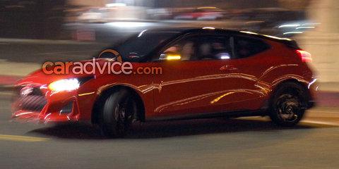 2018 Hyundai Veloster spied undisguised