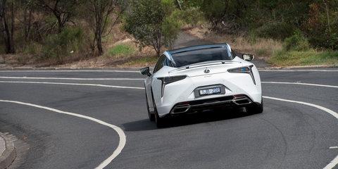 Lexus LC500 on the Great Ocean Road