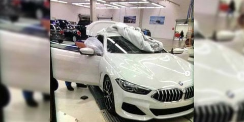 2019 BMW 8 Series Convertible spied in the snow
