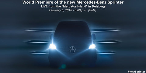 Mercedes-Benz Sprinter teased ahead of February 6 reveal