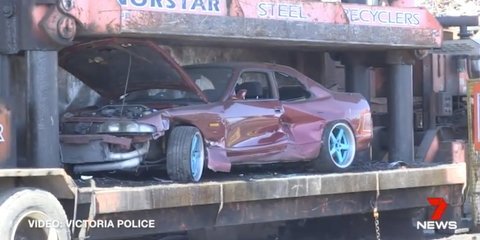 A brutal message from Victoria Police: We will crush your car