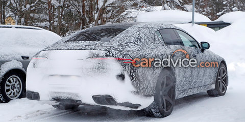 Mercedes-AMG GT four-door interior snapped