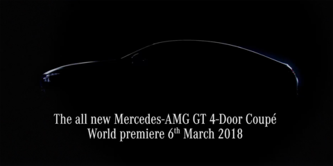 Mercedes-AMG GT '4-Door Coupe' teased again