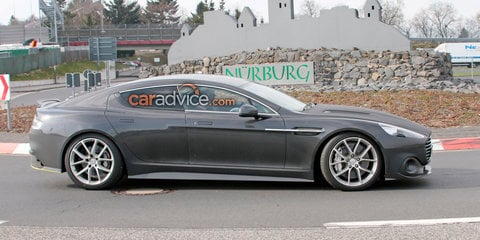 Aston Martin Rapide AMR spied