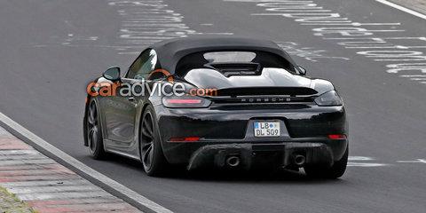 2019 Porsche 718 Boxster Spyder spied