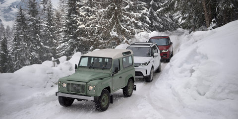Land Rover Defender: Giant snowy outline celebrates anniversary