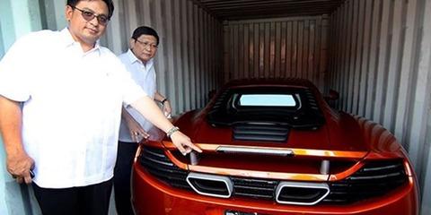 Smuggled Jaguar, Lamborghini, Ferrari, McLaren and Corvette among 30 luxury cars seized and crushed