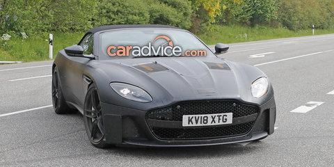 Aston Martin DBS Superleggera Volante spied