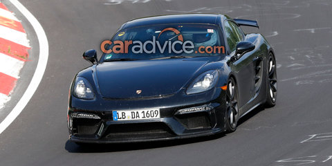 Porsche 718 Cayman GT4 spied at the Nurburgring